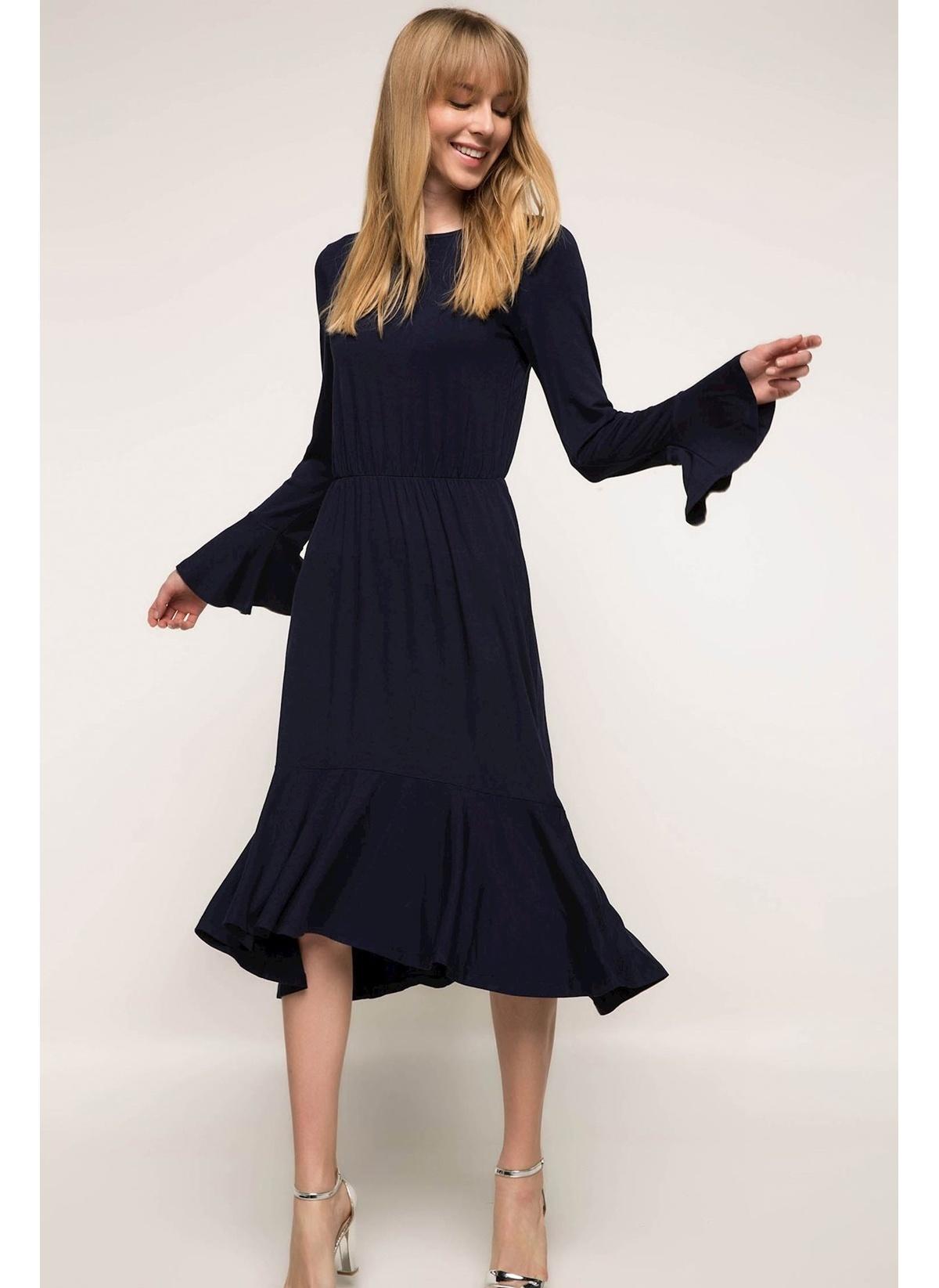 Defacto Kolları Ve Etek Ucu Volanlı Elbise I9652az18spnv167elbise – 49.99 TL